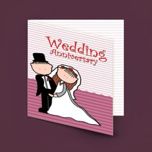 Wedding Anniversary Message Card